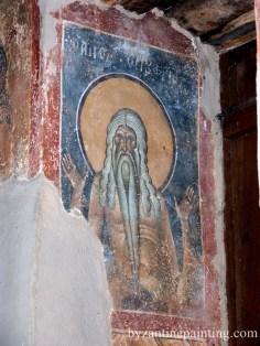 Mural painting Kurbinovo Macedonia (7)