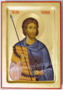 Saint Victor of Damascus byzantine icon