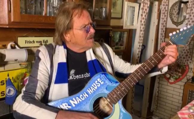 Frank Zander Singt Jetzt Nur Nach Draußen Statt Nur