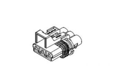Delphi 4 way connector 12010974 male sealed housing for