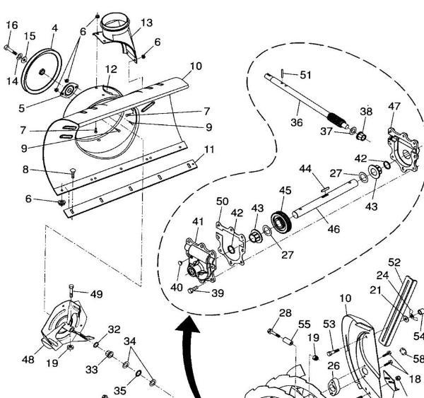Husqvarna Snowblower Parts Diagram, Husqvarna, Free Engine