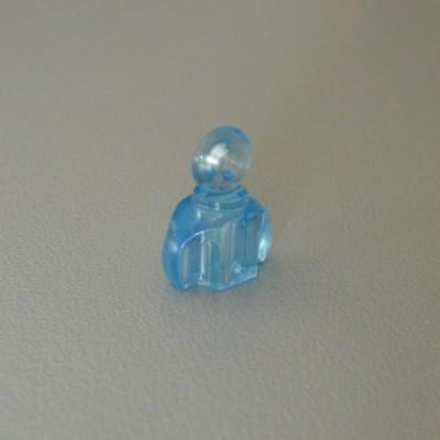 Un accessoire une bouteille de parfum bleue de marque jouet PLAYMOBIL