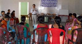 Demonstration on IUCD usage by Dr. Arup Joti Saikia, Addl Join Director of Health, Tinsukia District.