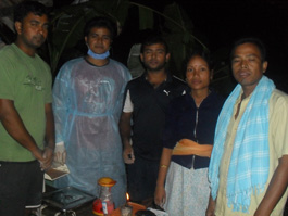 The health team of Jorhat Boat Clinic after the successful delivery