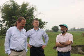 Onno Ruhl, Michael Hanley and Sanjoy Hazarika exchanging ideas and thoughts while at the island