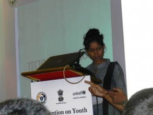Rumi Naik addressing the convention