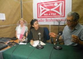 Communications Officer Bhaswati Goswami interviewing author John Zybrisky at the studio