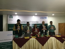 """C-NES' book """" Boat Clinics of the Brahmaputra """" co-edited by Prof Sanjoy Hazarika, Managing Trustee and Bhaswati Goswami was presented to the panelists and members and faculty of TISS. A few photographs from the workshop (Photo Credit TISS and C-NES)"""