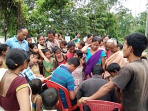 The flood relief health camp at Kaniajan village of Bihpuria revenue circle organized by boat clinic in association with Bihpuria BPHC. Dr. SorojKakati, SDM&HO, Bihpuria BPHC was present