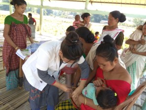 Scenes from a health camp at Tinsukia's Phasidiya village under Hapjan BPHC