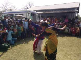 Street plays for health awareness being staged