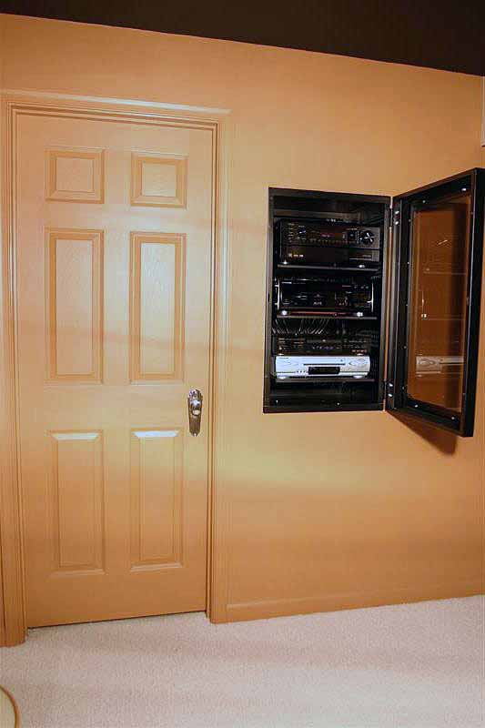 Anyone build inwall rack glass door for centralized A