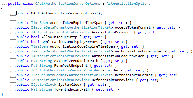 OAuthAuthorizationServerOptions