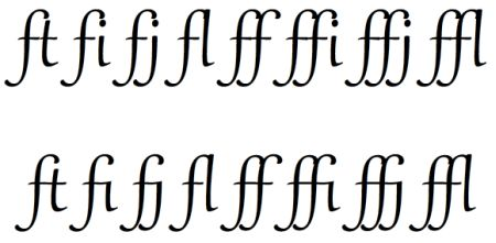 Chapter 9: OpenType Font Support