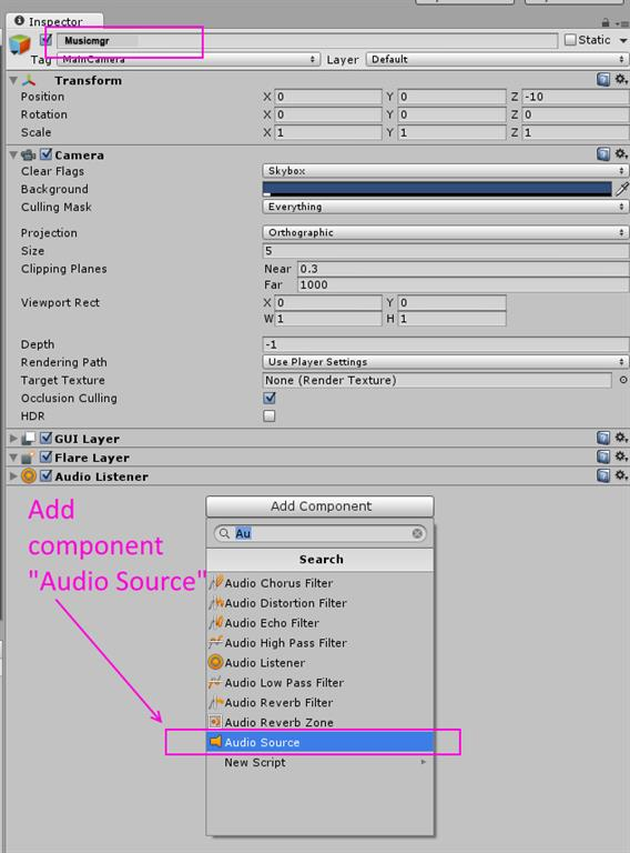 On Button Click Start The Audio Using C# Scripts In Unity