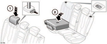 Range Rover Evoque: Folding and raising the rear seats