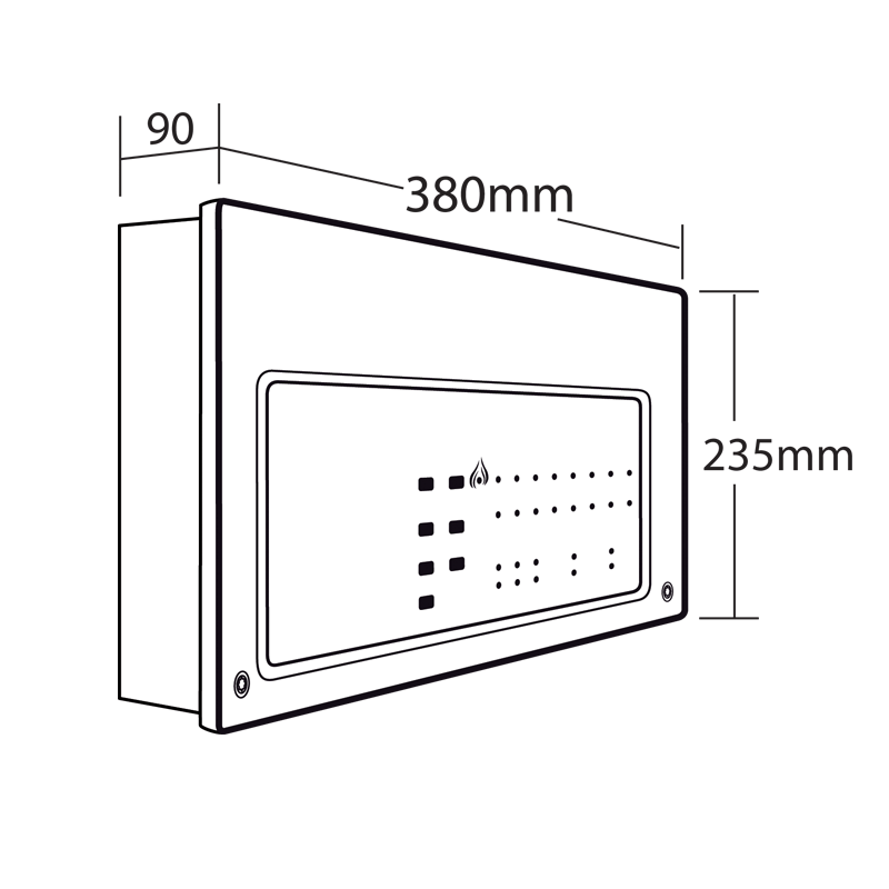 CFP702-4 CFP Standard 2 Zone Conventional Fire Alarm Panel