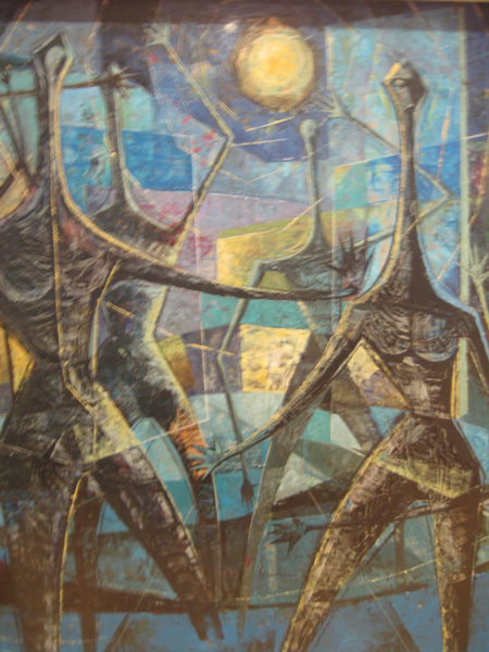 1960s abstract oil painting