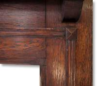 1920s Dark Oak Fireplace Mantel