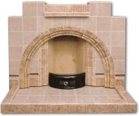 Vintage Arched tiled fireplace