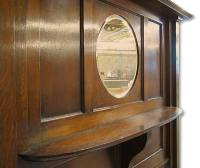 1920s Oak Fireplace Mantel