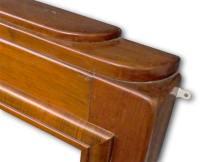 1920s Art Deco mahogany mantel