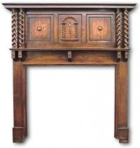 1920s fireplace mantel in Oak