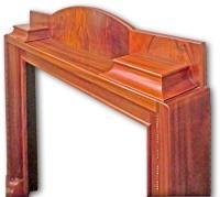 1920s classic mahogany fireplace mantel