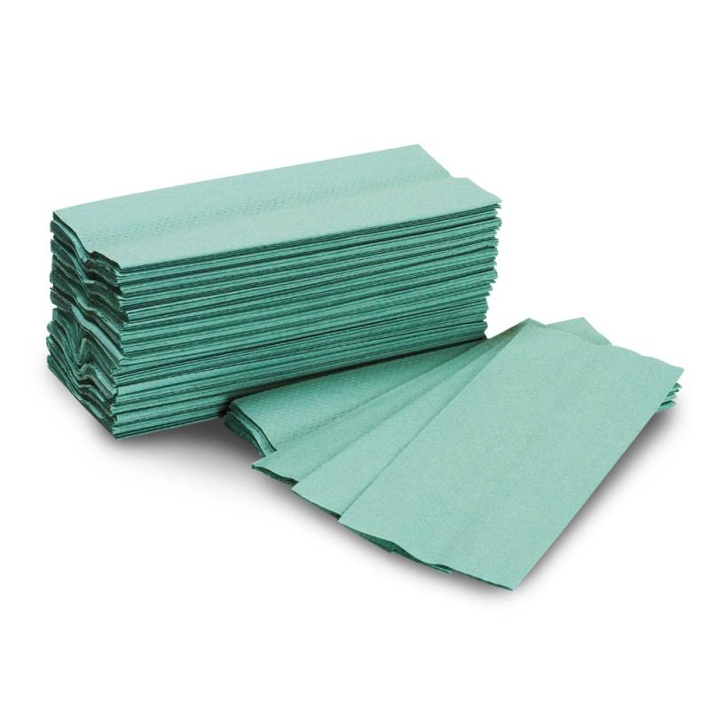 CFold Hand Towel Green 1Ply
