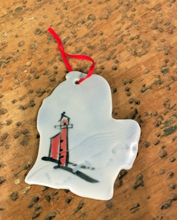 Michigan Mitten Ornament by Cyndi Casemier