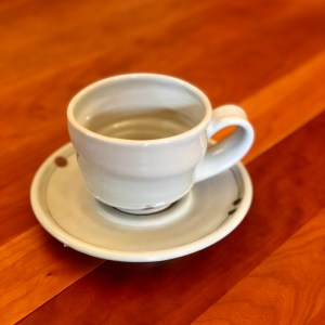 celadon cup and saucer by Julie Devers
