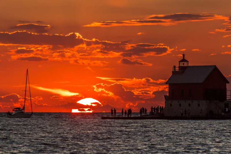 lighthouse sunset