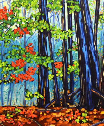 print of original painting Hemlock Crossing