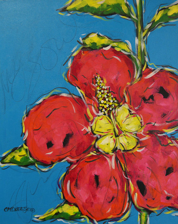 Hibiscus Reproduction Print by Christi Dreese