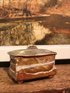 Wood fired ceramic box by mike Taylor