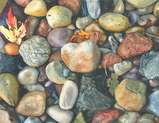 Michigan stones by laura hollenbeck
