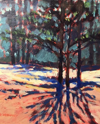 late winter shadows - original painting by Mark Mehaffey