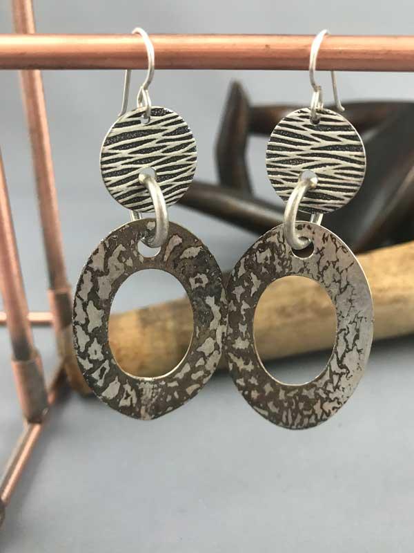 handmade oval hoop earrings