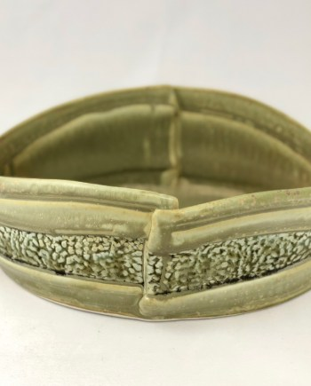 handmade ceramic landscaped bowl - green