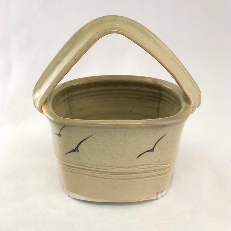 ceramic basket by Cyndi Casemier