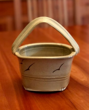 little handmade ceramic basket