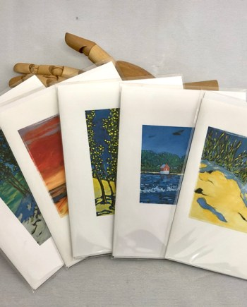note cards featuring images of paintings by Christi Dreese