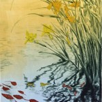Yellow Irises by LeeAnn Frame