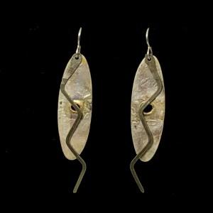 Silver Goldish ZigZag Ovals by Lochlin Smith