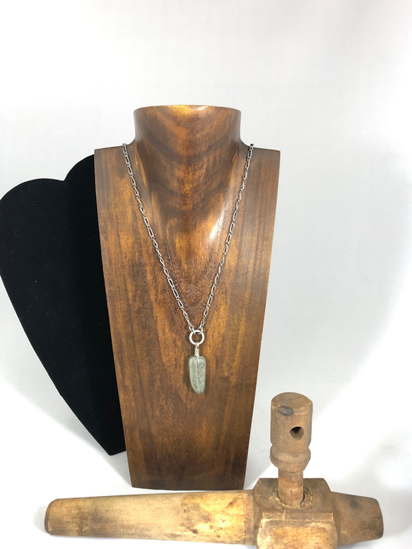 Stone Pendant Necklace by Lochlin Smith