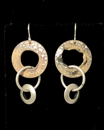 Triple Hoop Earrings by Lochlin Smith