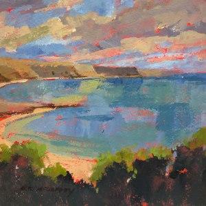 Irish Coast Acrylic Painting by Mark Mehaffey