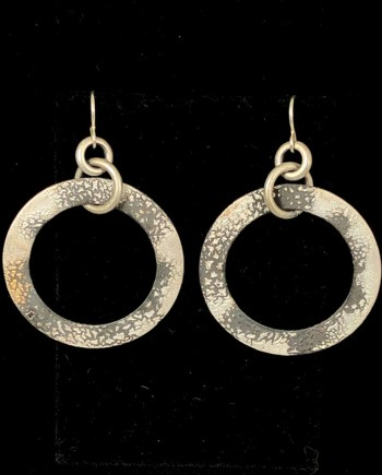 handmade flat hoop earrings