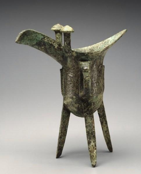 13th century chinese bronze wine vessel