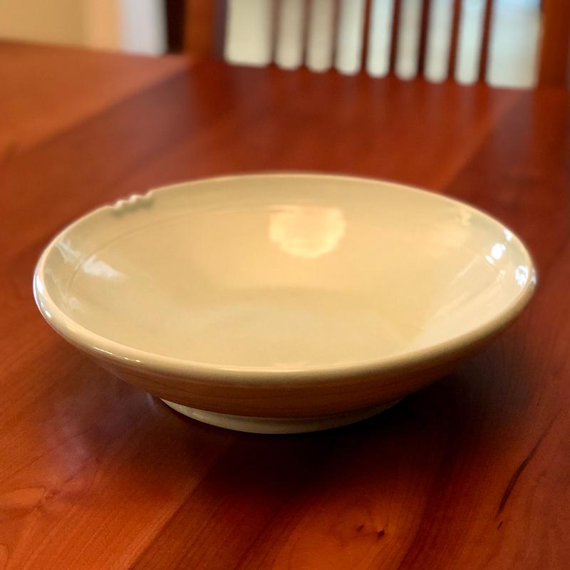 handmade porcelain serving bowl